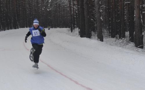 бег на снегоступах - январь 2014 года