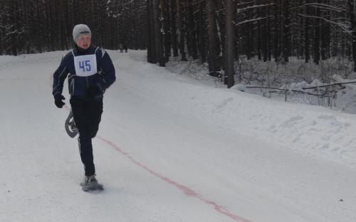 январь 2014 года - бег на снегоступах