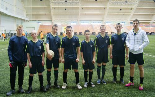 команда  Первоуральской    СКОШ   на  соревнованиях  по  мини-футболу