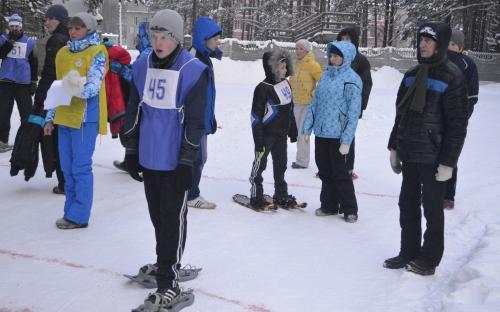 соревнования   на  снегоступах - январь 2014 года