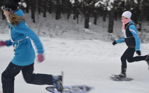 январь 2014 года - соревнования  на  снегоступах